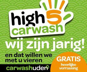 Banner 5 jaar Carwash Uden Site