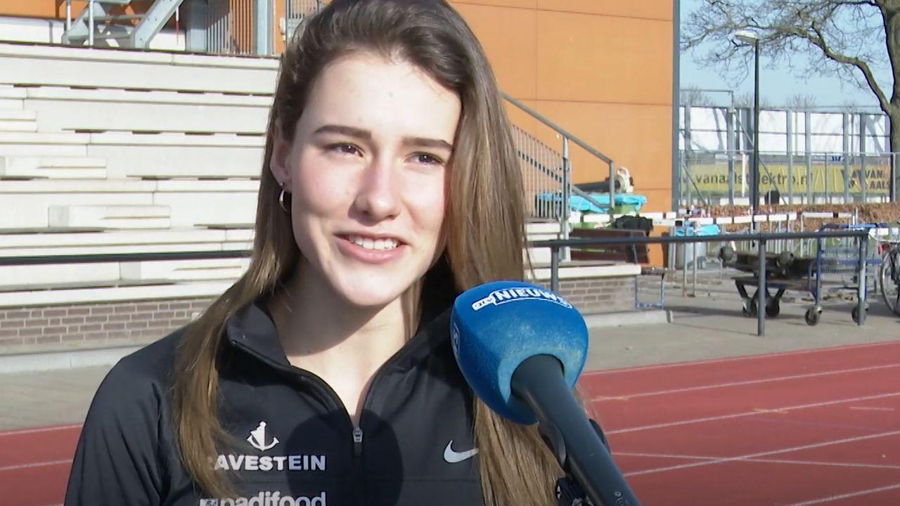 Nederlands kampioene indoor: 'Ik denk niet dat ze me nog een keer gaan onderschatten'