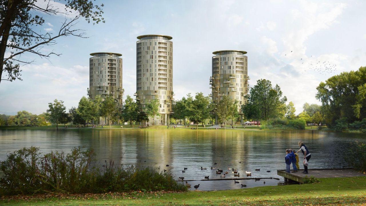 Meepraten over nieuwe woontorens op locatie Brabantbad Den Bosch