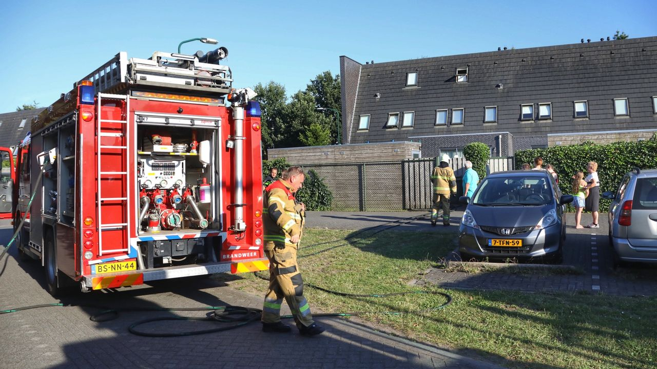 Brand op zolder in Berghem
