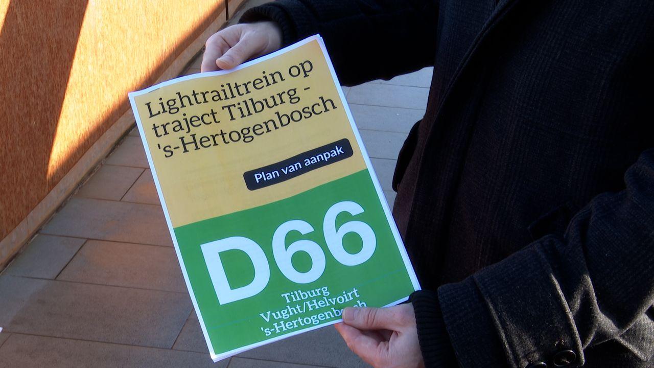 D66-fracties willen een lightrail tussen Den Bosch en Tilburg