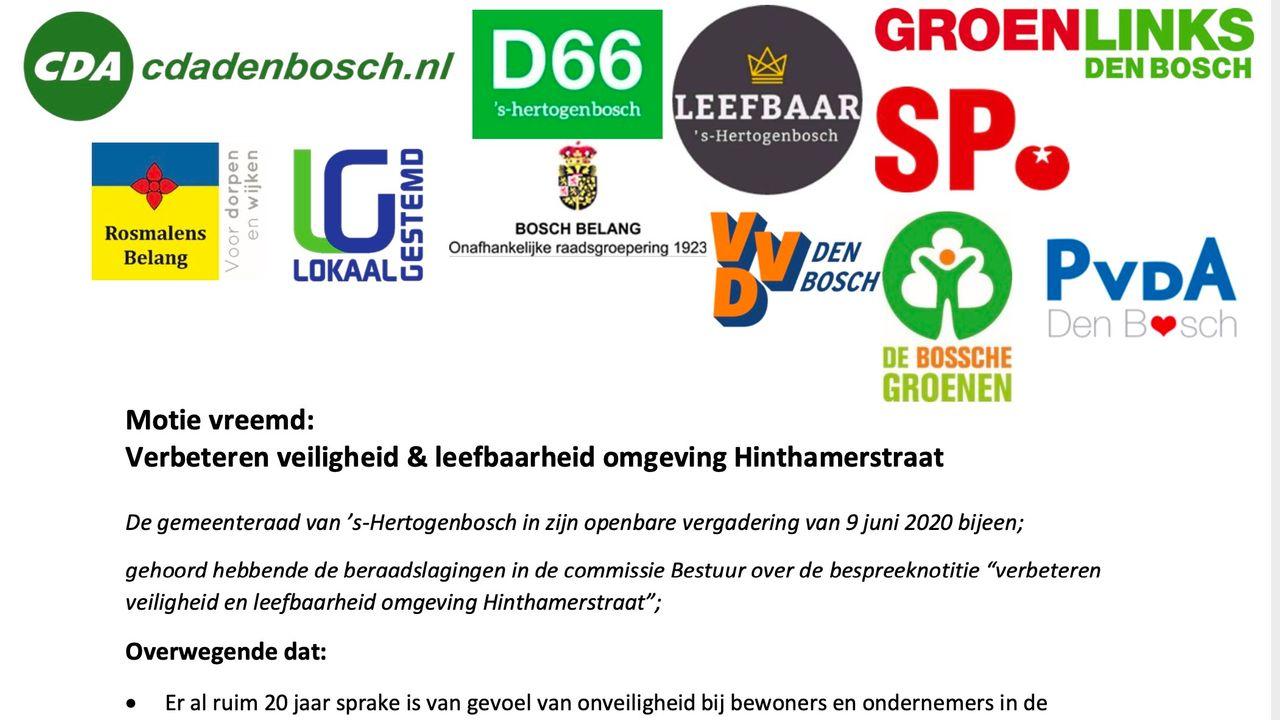 Bossche raad kiest voor ingrijpende maatregelen Hinthamerstraat