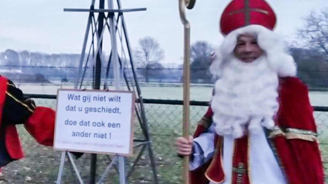 Actiegroep over 'Sinterklaasactie' bij wethouder: 'Wij waren het niet, maar snappen het wel'