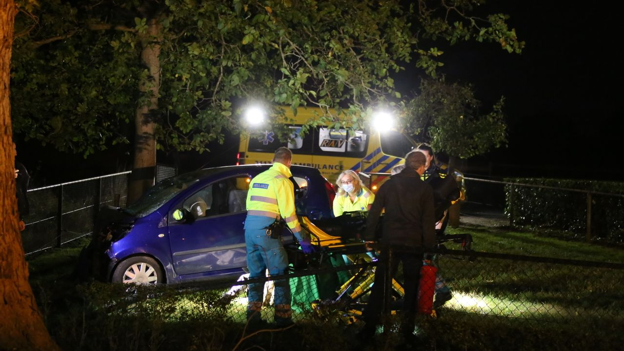 Auto knalt tegen boom in Nistelrode