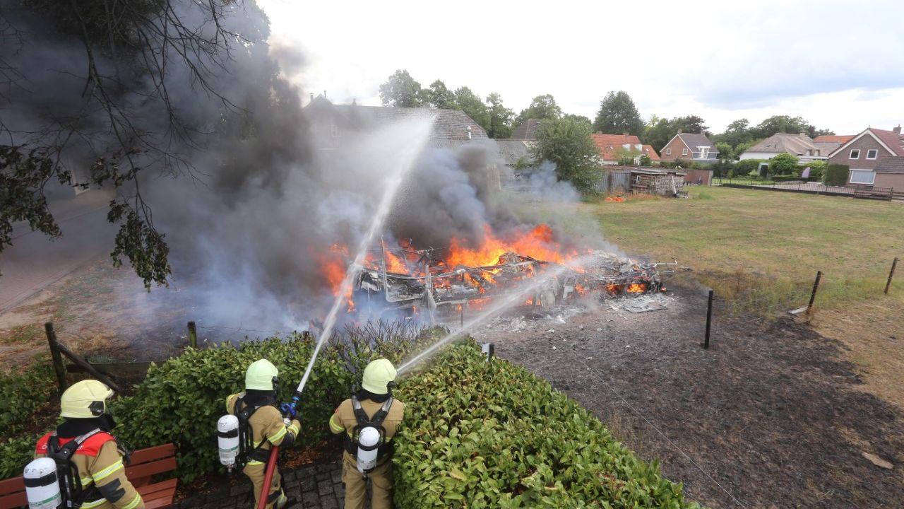 Camper vat vlam in Rosmalen