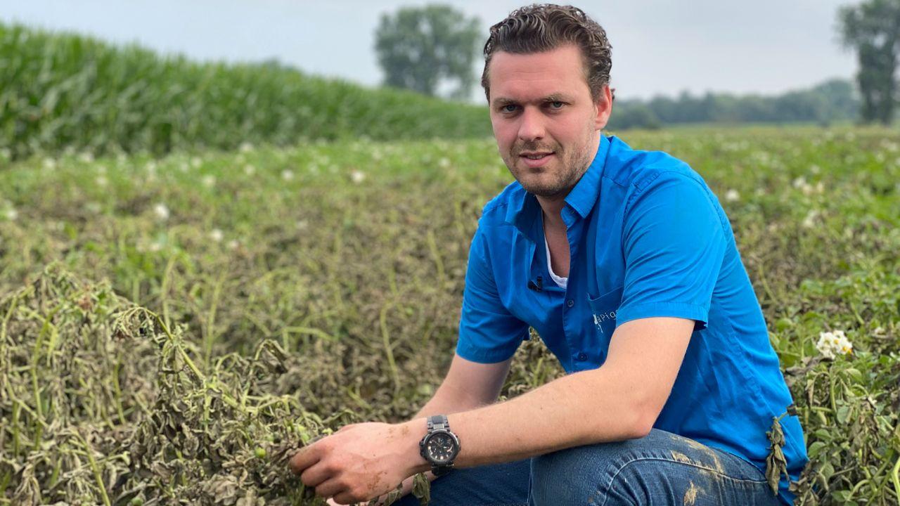 Akkerbouwer Daan Janssen verloor 75 hectare gewas door overstroming Maas