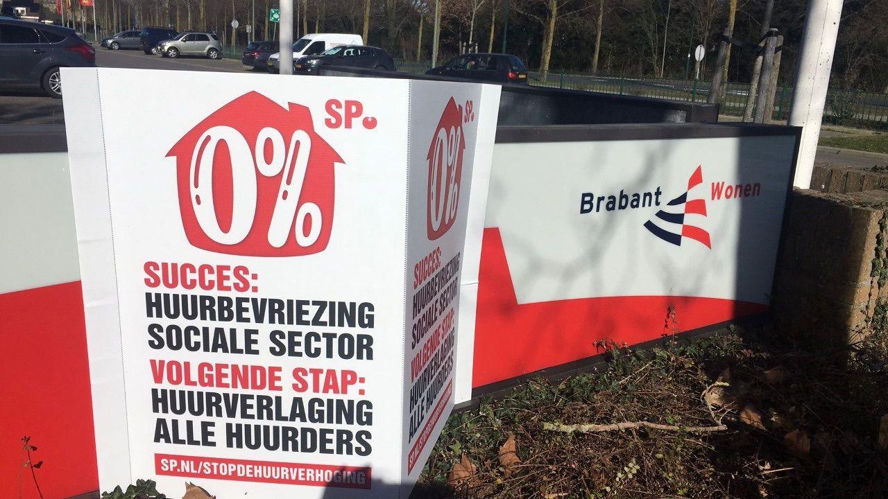 SP Oss voert actie bij BrabantWonen voor lagere huren