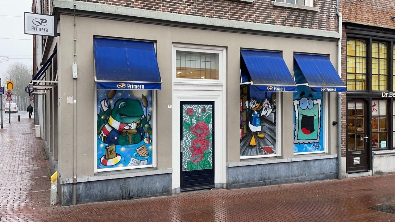 Kunstwerken fleuren dichtgetimmerde panden in binnenstad van Den Bosch op