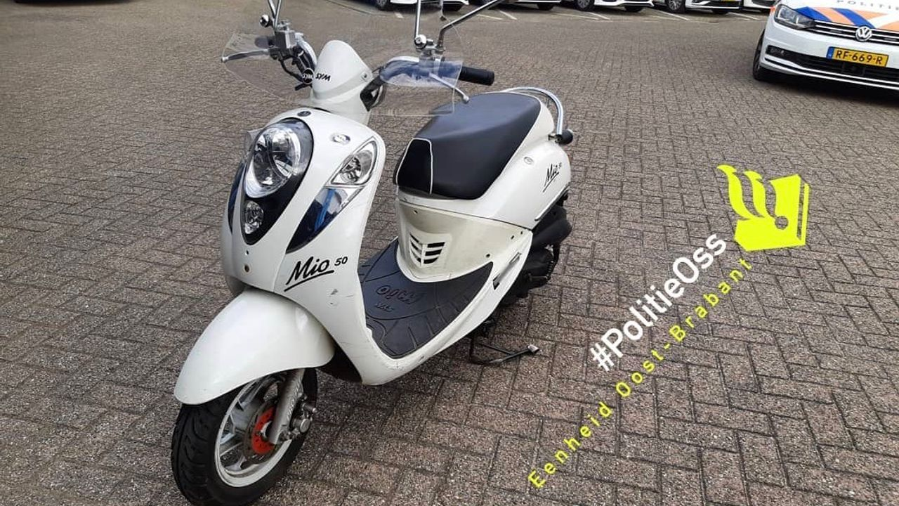 Vluchtende scooterrijder toch nog gepakt in Oss