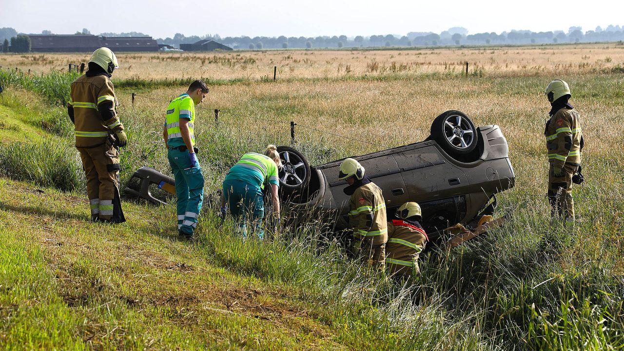 Een gecrashte auto, maar de bestuurder spoorloos