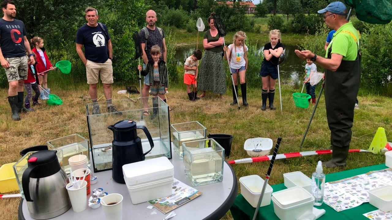 Allerlei waterdiertjes komen tevoorschijn tijdens Slootjesdag