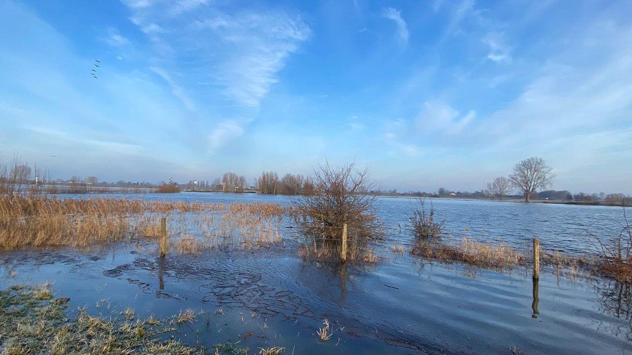 Hoogwater in de regio trekt veel bekijks en levert fotogenieke plaatjes op