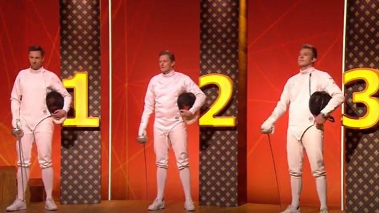 Schermer Bas Verwijlen bij tv-programma 'Wie van de drie'