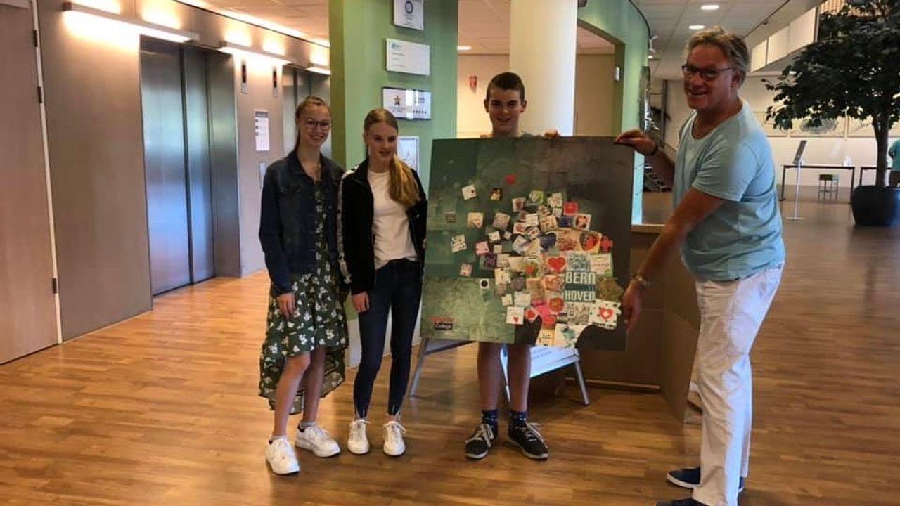 Kunstwerk leerlingen Udens College voor Bernhoven