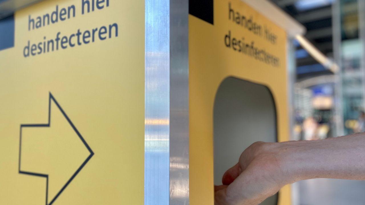 Station Den Bosch krijgt desinfectiezuilen