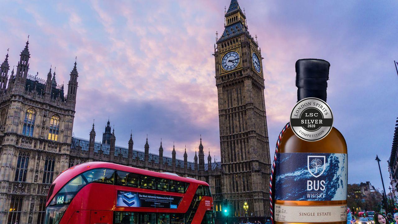 Bus Whisky uit Loosbroek valt in de prijzen in Britse hoofdstad