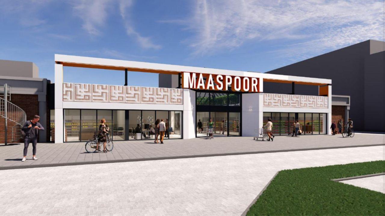 Winkelcentrum Maaspoort moet half april klaar zijn