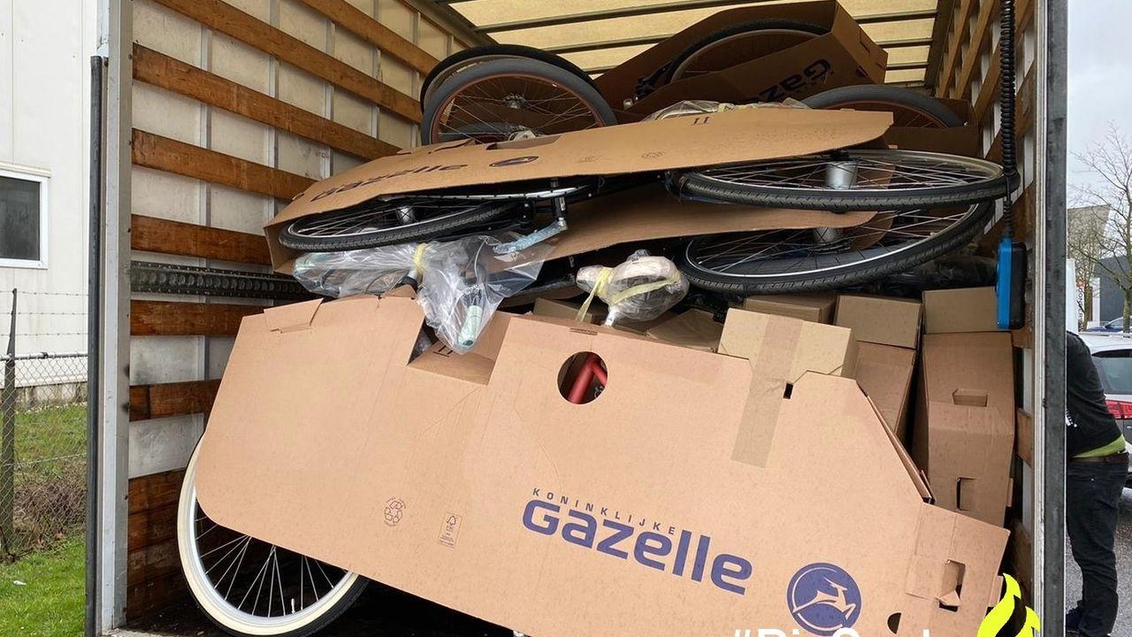 Ossenaar aangehouden met truck vol gestolen fietsen