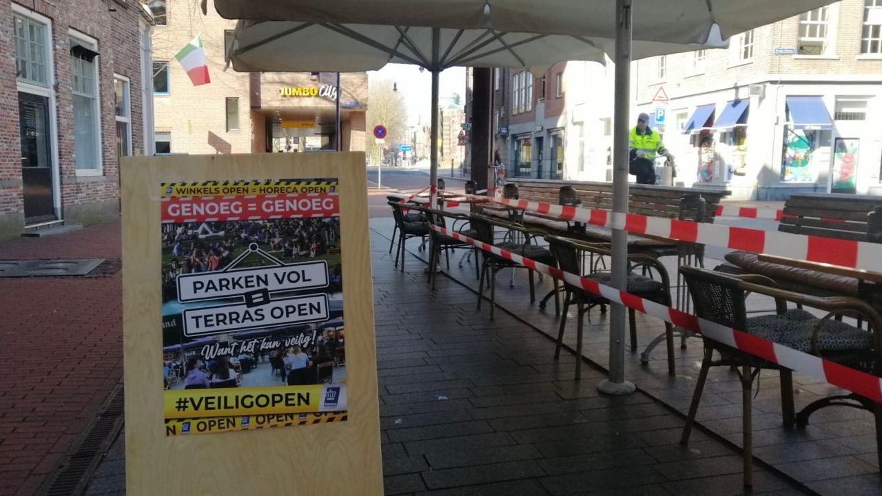 Stil protest horeca: wel terrassen, maar geen gasten