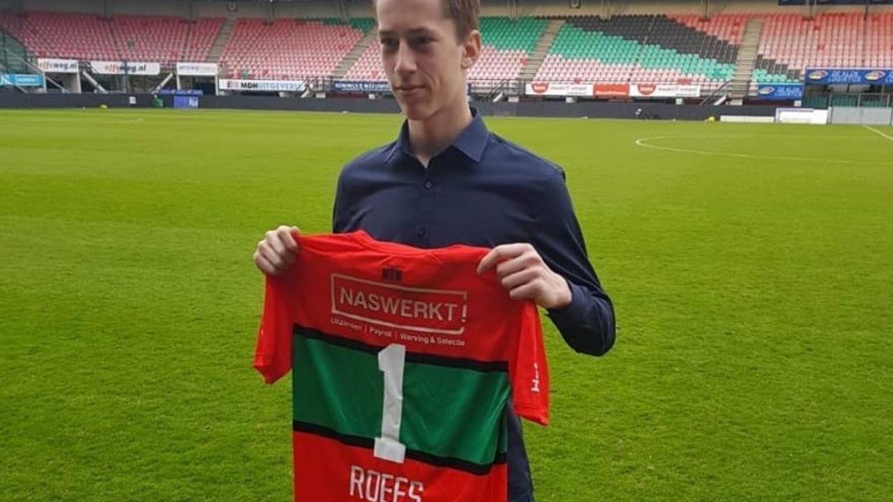 17-jarige doelman geeft selectie vv Heeswijk keeperstraining