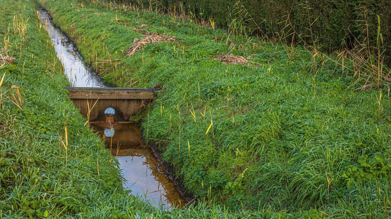 Waterschap controleert doorstroming sloten en beken