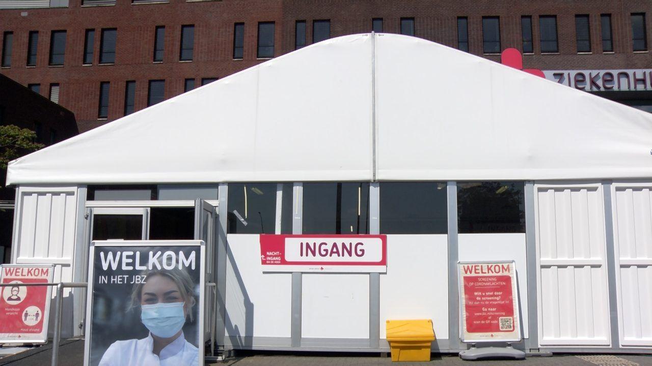 Tent bij hoofdingang JBZ verdwijnt, screening blijft