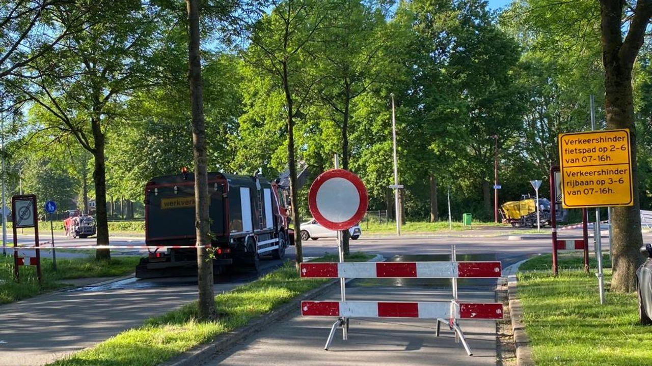 Hazenkamplaan en Leygraaf in Ussen geasfalteerd en afgewerkt