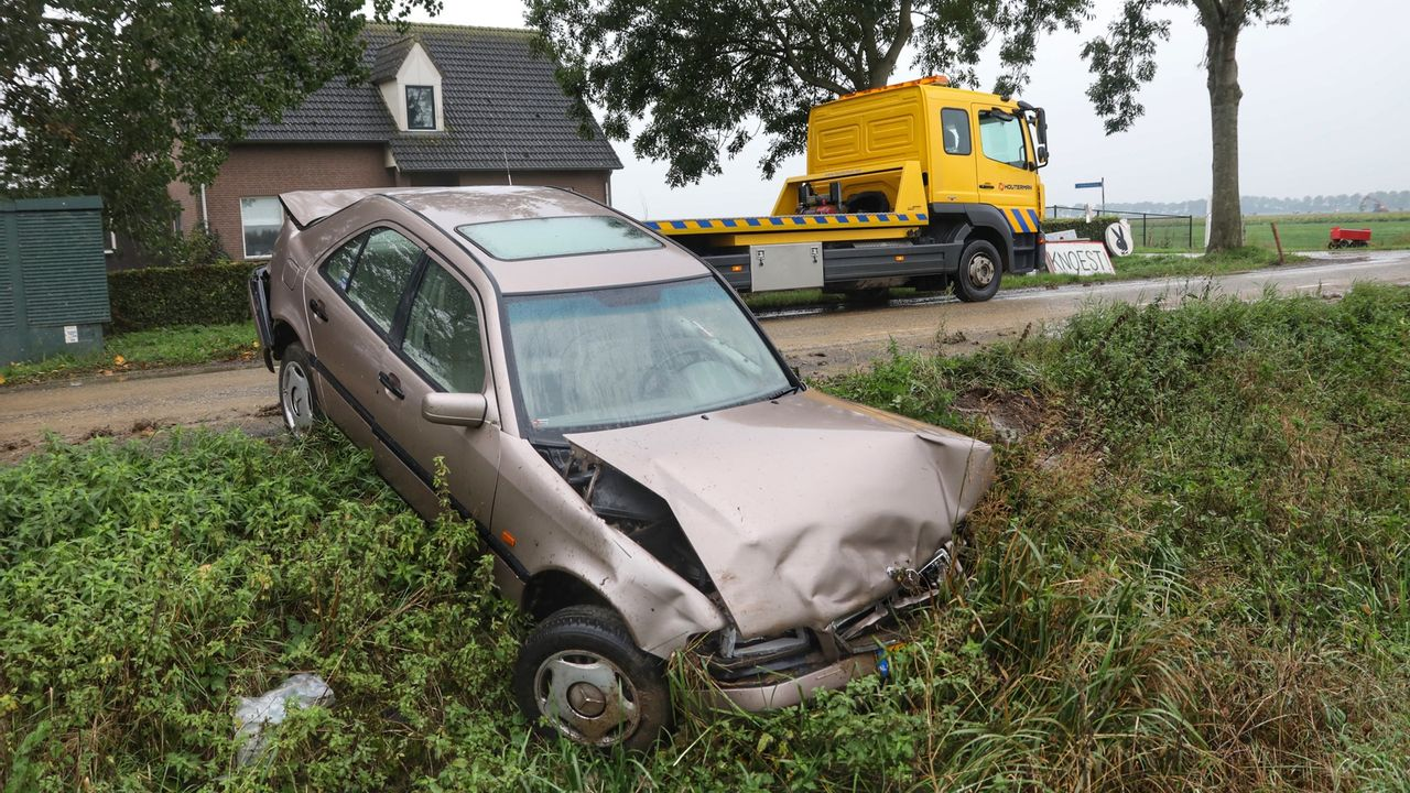 Automobiliste gewond na ongeval bij Lithoijen