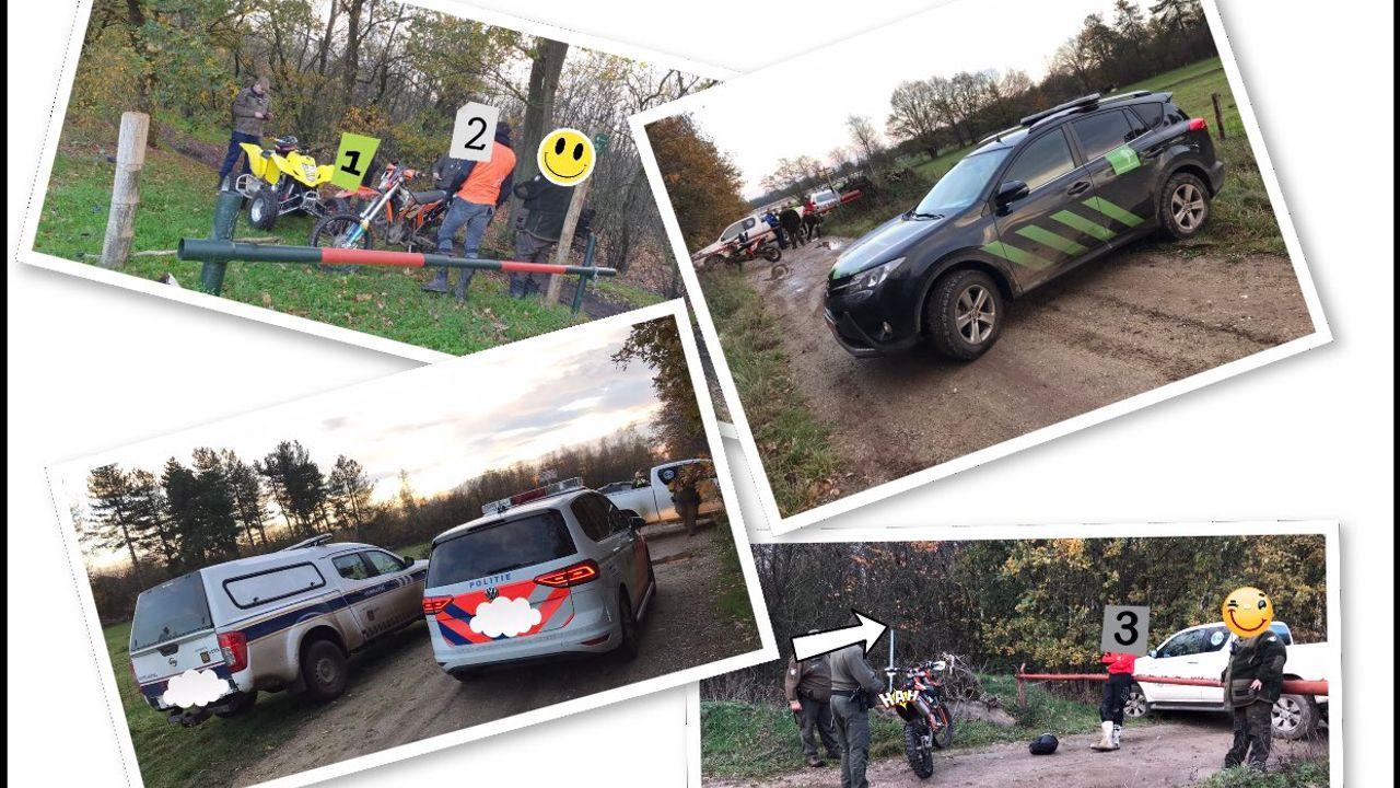 Offroad-rijder rijdt in op boa en wordt aangehouden in de Maashorst