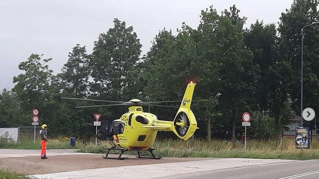 Pleister laat traumahelikopter landing maken in Rosmalen