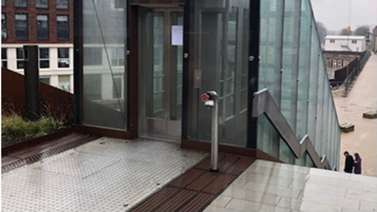 Lift Paleisbrug Den Bosch tijdelijk buiten gebruik