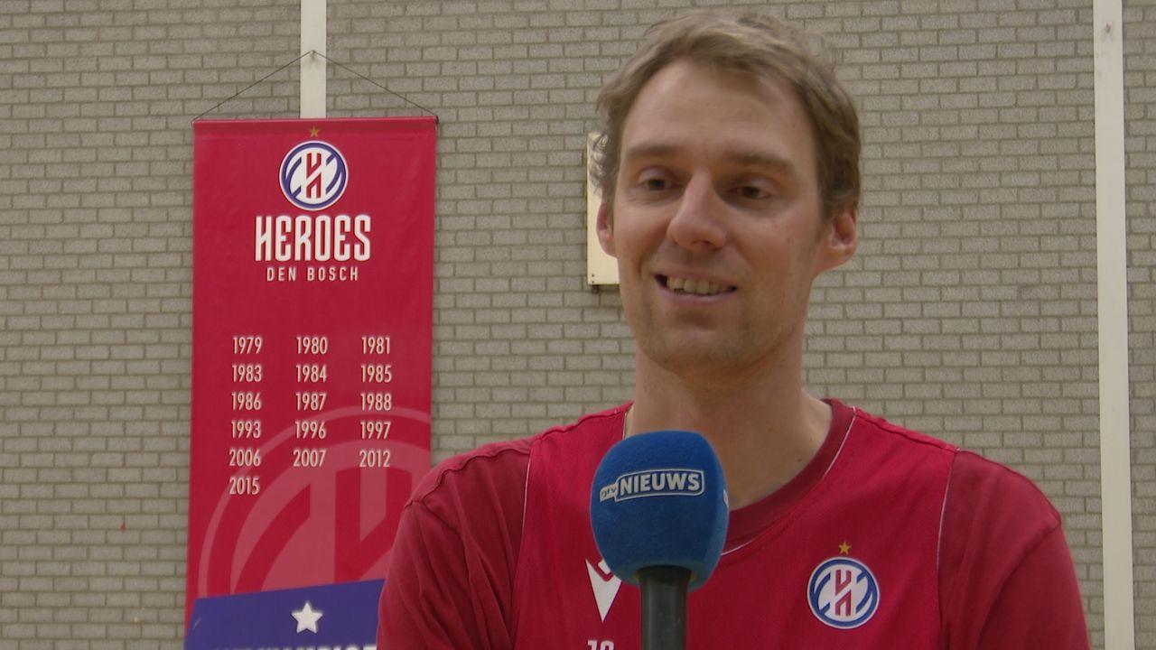 Henk Norel (Heroes Den Bosch) beëindigt basketballoopbaan per direct vanwege knieklachten
