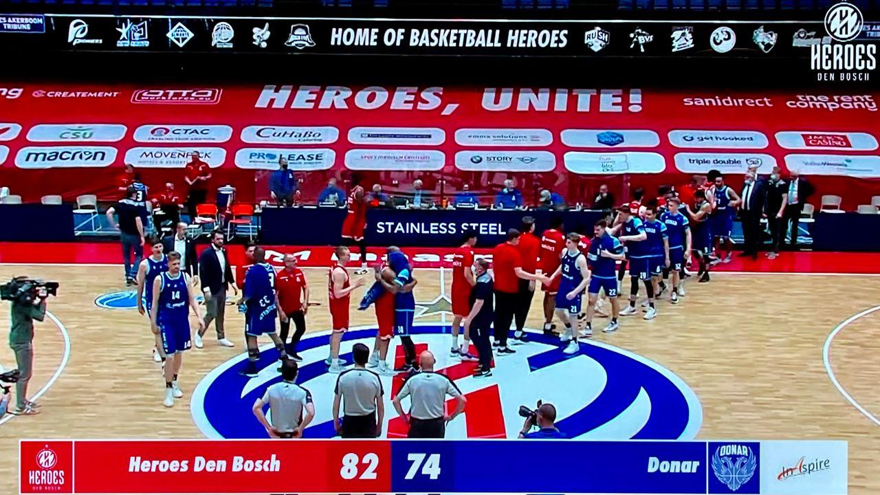 Heroes Den Bosch naar finale na zege op Donar