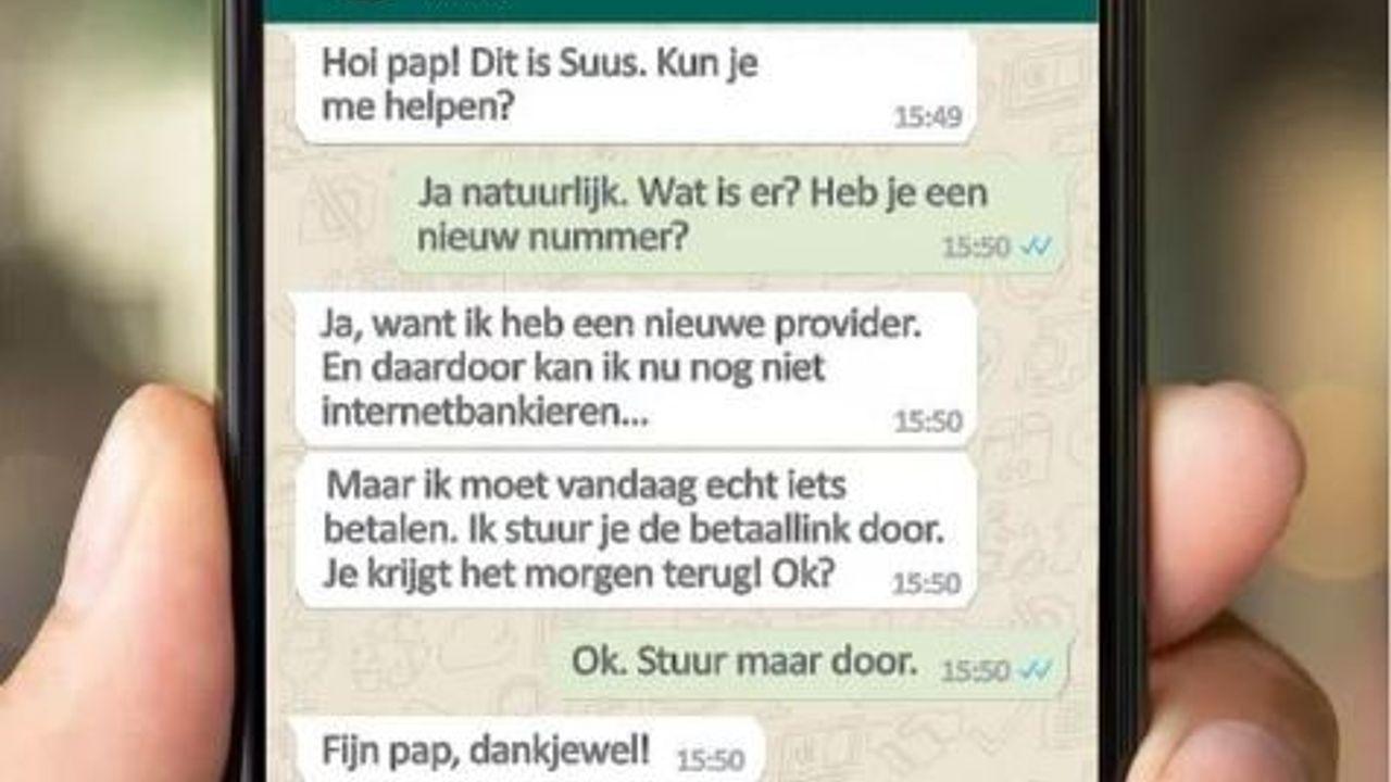 Politie waarschuwt voor Whatsapp fraude