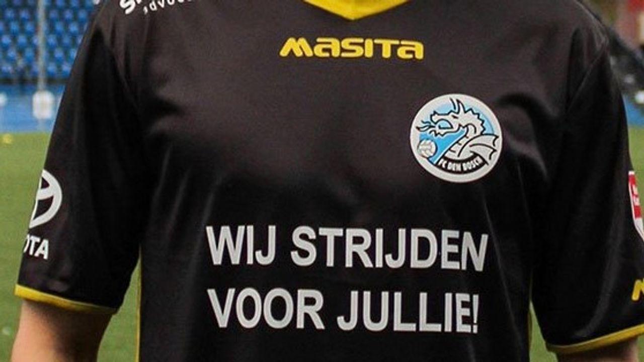 M-side eenmalig op het shirt van FC Den Bosch
