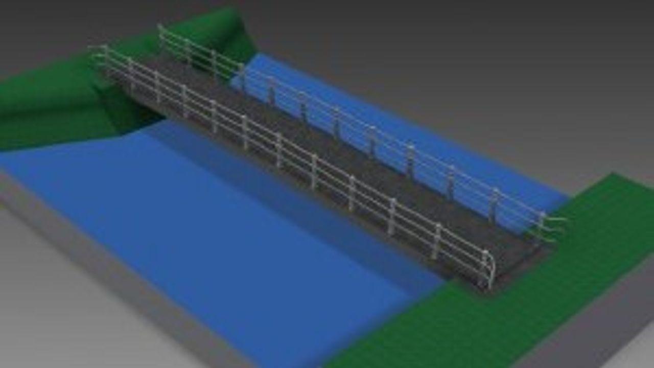 Aanleg fiets- en voetgangersbrug over Groote Wetering in Vinkel neemt twee maanden in beslag