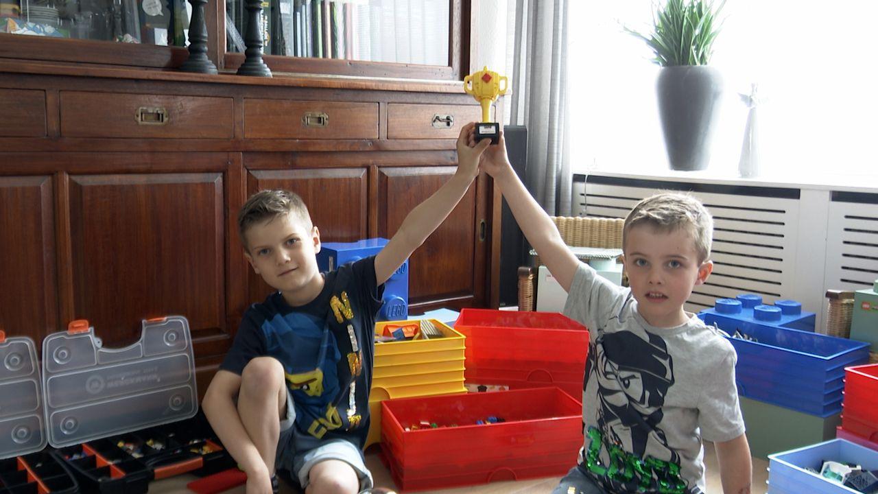 'Blokjesbazen' Bryn en Thom bouwden iconische gouden draak na met LEGO