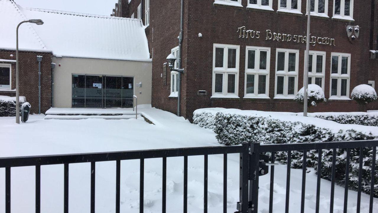 Maandag nog geen fysieke lessen op TBL in Oss vanwege weersomstandigheden
