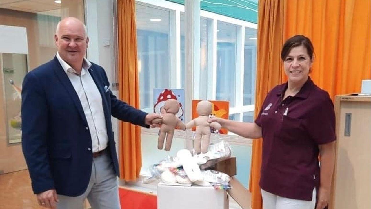 Kiwanispoppen helpen kinderen bij verblijf in ziekenhuis Bernhoven