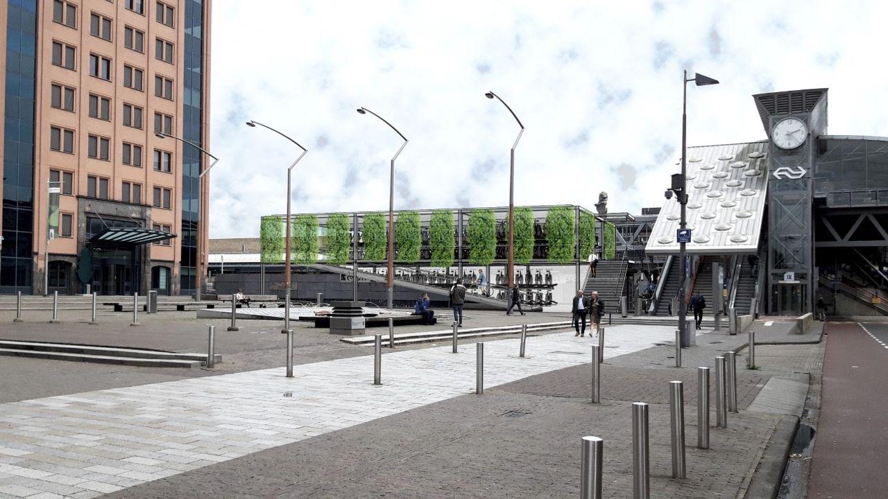 Nieuwe fietsparkeervoorziening aan westzijde van station Den Bosch