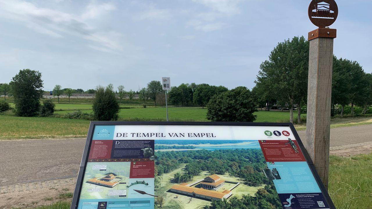 Fietsend levensgrote Romeinen ontmoeten tijdens route 'Tempels langs de Maas'