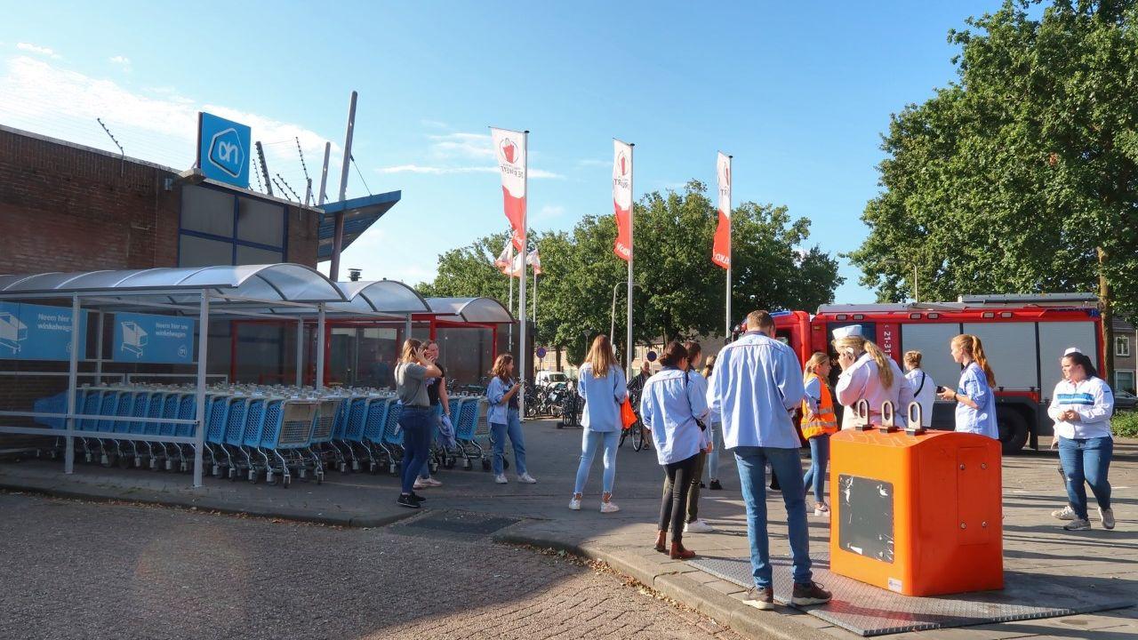 Albert Heijn in Ruwaard korte tijd ontruimd na ruiken gaslucht