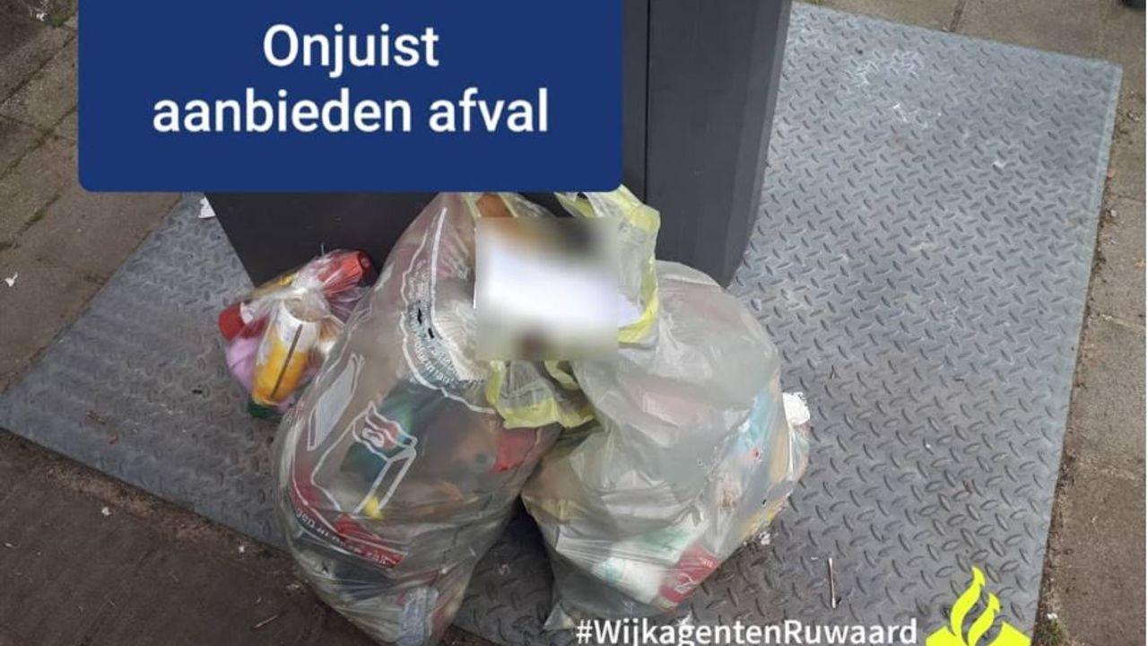 Boete voor onjuist aanbieden van huishoudelijk afval in Osse wijk de Ruwaard