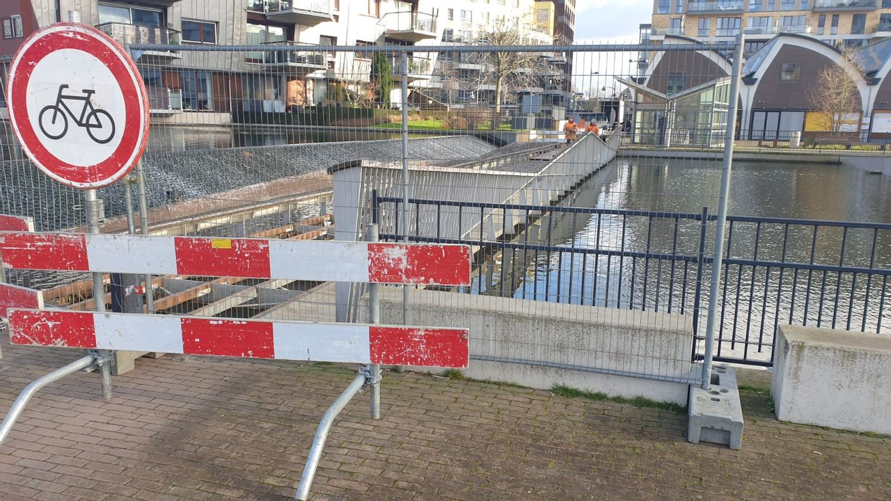 Spiegeltuinbrug in Den Bosch komende twee weken gesloten