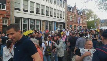 Een demonstratie in Den Bosch tegen het coronabeleid van het kabinet is donderdag zonder problemen verlopen.