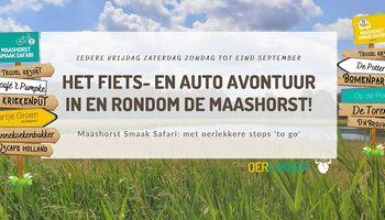 Maashorst Smaak Safari hangt de vlag uit